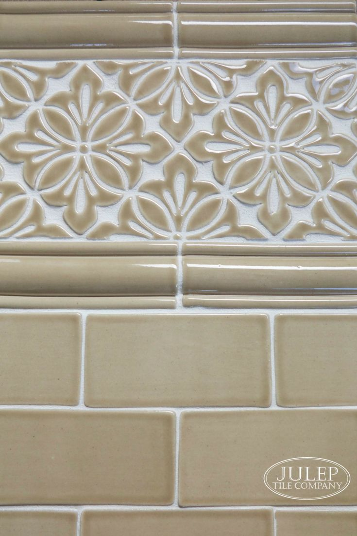 42 best handmade subway tile images on pinterest baths beach customize your space with a handmade tile border featured here is our cobham decorative pattern dailygadgetfo Choice Image