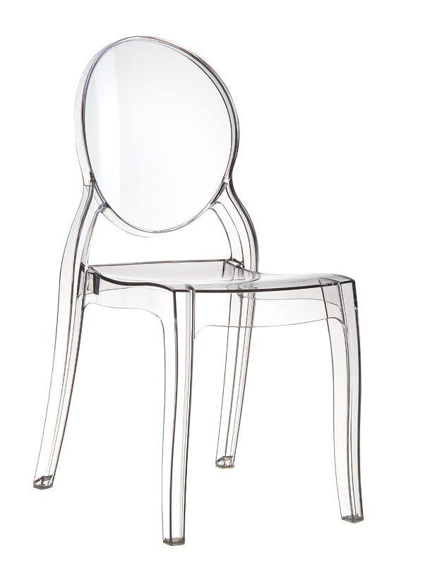 Kunststoffstuhl Medaillonstuhl Stuhl ELISABETH