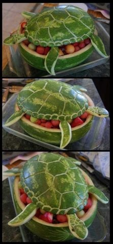 Watermelon Turtle: cutest thing I've ever seen!