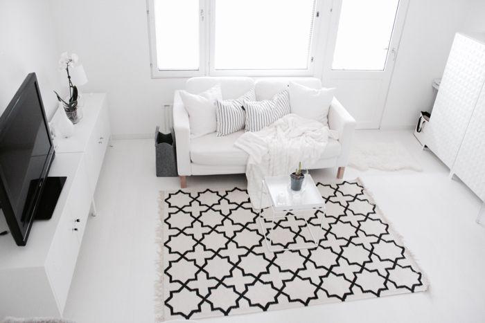 Black & white living room   scandinavian interior   Finnish home