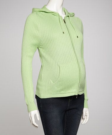 Another great find on #zulily! Green Maternity Zip-Up Hoodie - Women by Lilo Maternity #zulilyfinds