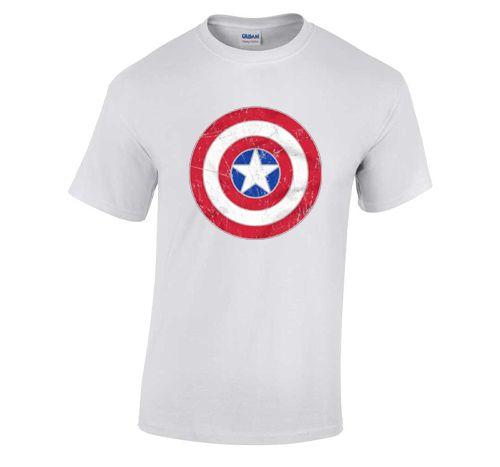 Capt. America Shield white T Shirt