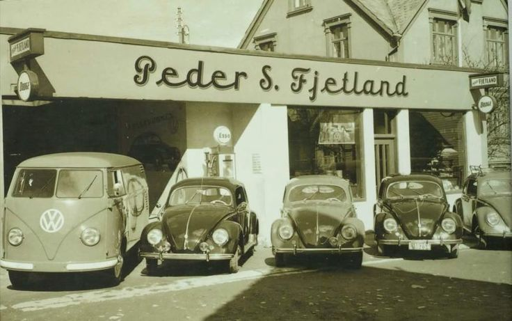 Peter S. Fjetland, VW dealer in Stavanger - Norway, in the fifties....