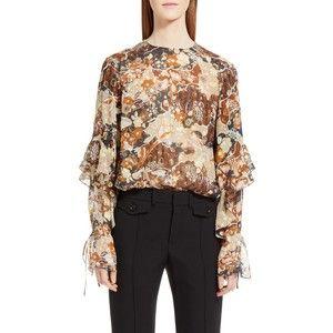 Women's Chloe Metallic Silk Fil Coupe Blouse