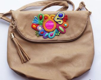 Special price !!! Bag with motif soutache  !