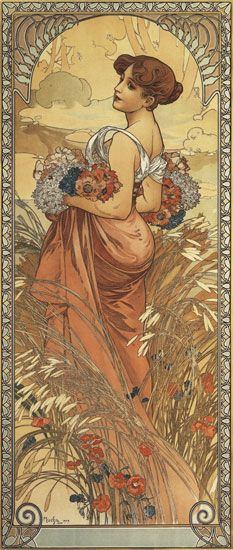 Summer1903 - Alphonse Mucha  (my favorite artist - creator of Art Nouveau movement)