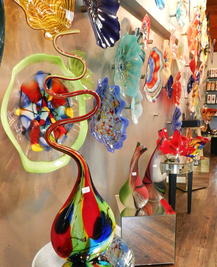 Colored Glass Wall Decor : Our unique hand blow glass wall art and vases will add