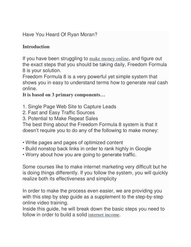 have-you-heard-of-ryan-moran-15967140 by debbieg9521 via Slideshare