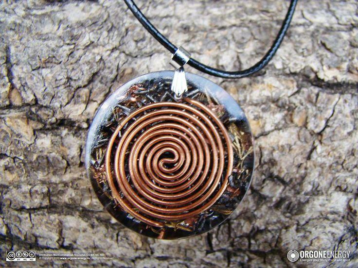 Orgone-Energy Pandantiv Emisferic cu Unakit