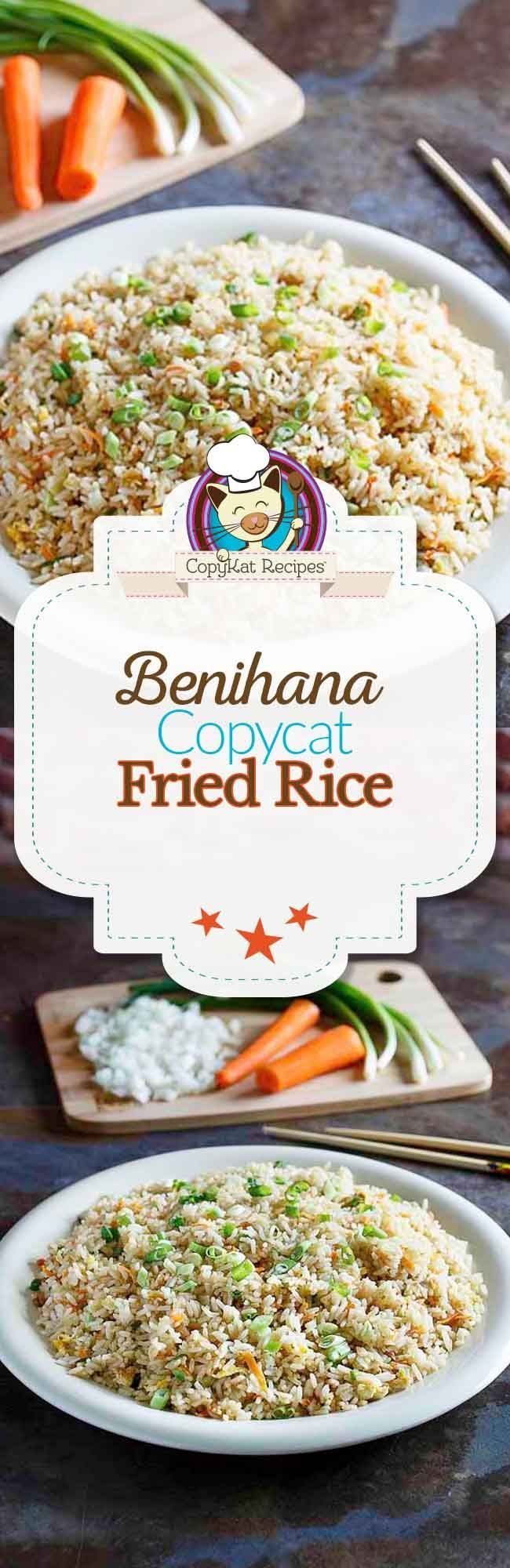 You can recreate Benihana Fried Rice at home with this copycat recipe.  These Step by Step instructions will have you making the perfect fried rice.