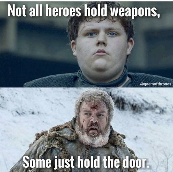 Hodor as a youth and when he was older, Game of Thrones Season 6