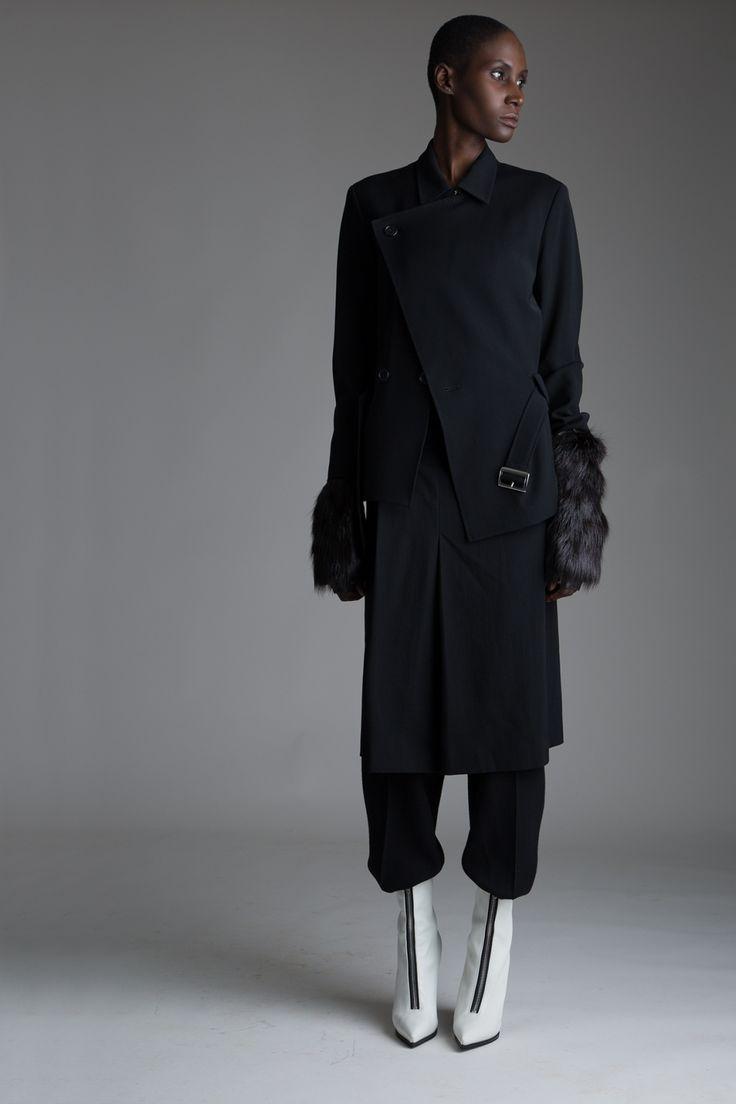 Vintage Y's Yohji Yamamoto Jacket and Safety Pin Skirt, Beaver Fingerless Gloves and Strapless Jumpsuit Designer Vintage Clothing Minimal Fashion