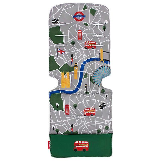 BuyMaclaren Pushchair London Theme Seat Liner Online at johnlewis.com