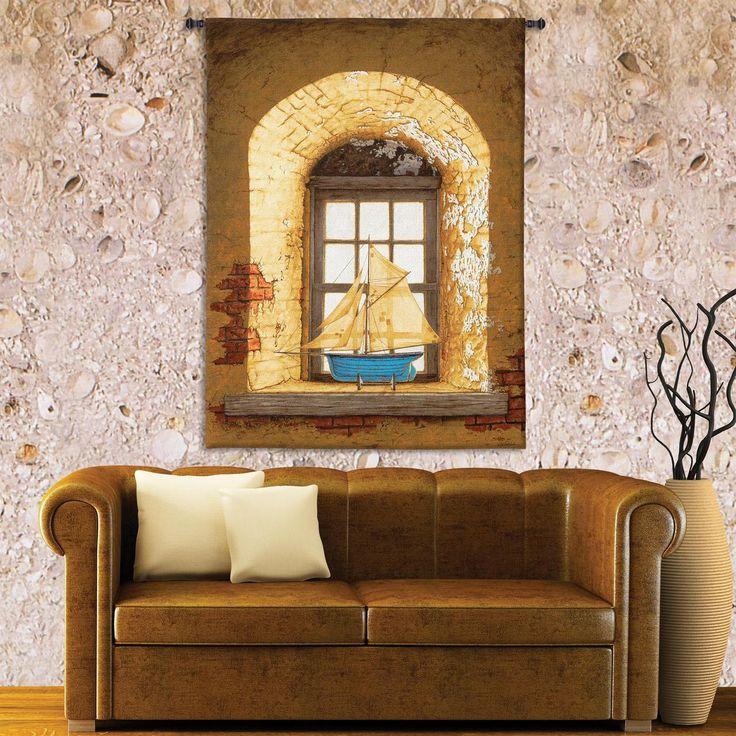 Lighthouse Window | Bob Timberlake | 53 x 38 |Tapestry Wall Hanging