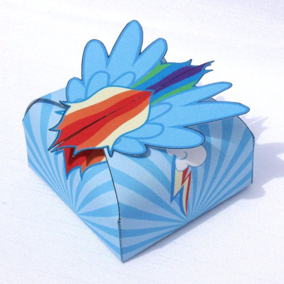 My Little Pony - Inspired Rainbow Dash Printable Gift Box (Instant Download)