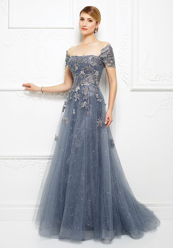 Ivonne D 217d88 Blue Mother Of The Bride Dress Lace In 2018 Pinterest Dresses Gowns And Wedding