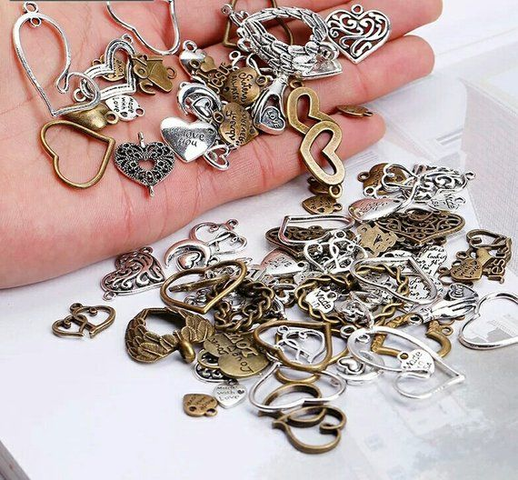 Vintage Golden Color Charms for Jewelry Making 100 Style Pendant for DIY Making
