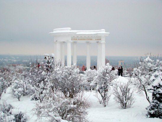 (53) Одноклассники    Белая беседка зимой. Отсюда видна вся Полтава