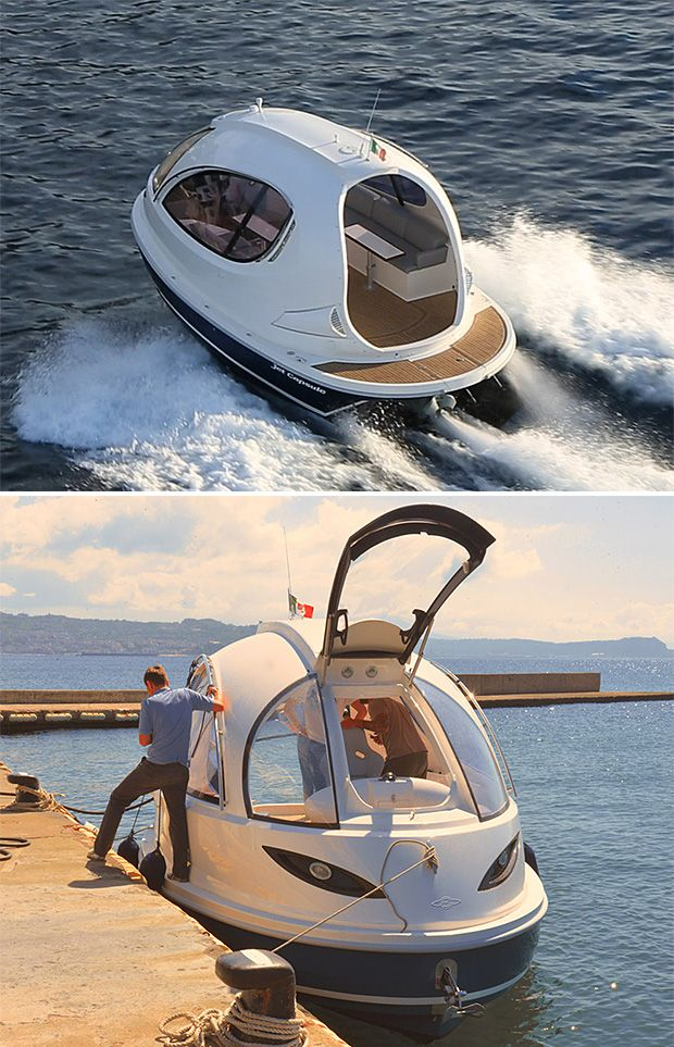 Jet Capsule - I've found my Christmas present! I'd even settle for the mini. And since there are no ditches on the water, everyone can feel safe!