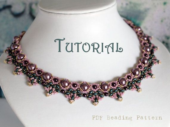 Tutorial for beadwoven pearl and twin beads necklace.