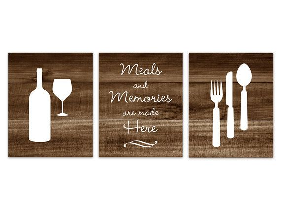 Rustic Kitchen Art Fork and Spoon Wall Decor by WallArtBoutique