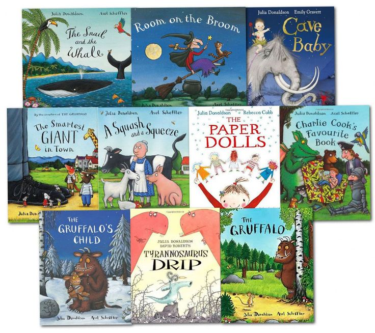 Julia Donaldson 10 Picture Books Collection The Gruffalo Paper Dolls NEW