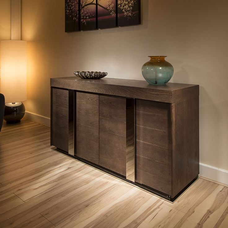 Sideboard Cabinet with Chrome handles