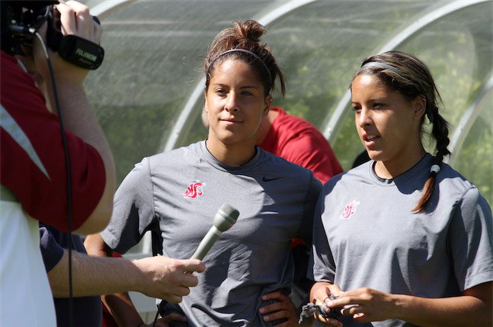 Morgan '14 and Micaela '14 Castain,  (women's soccer team)
