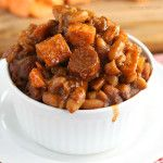 Franks and Beans with Sweet Potatoes