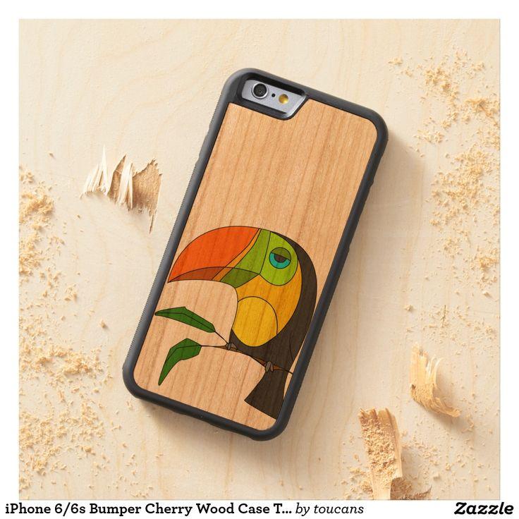 toucan en bois de caisse de cerise de butoir de coque iPhone 6 bumper en cerisier