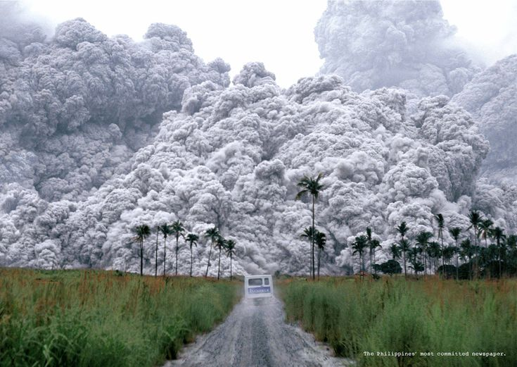 volcanic+ash | Volcanic Ash in Philippine Daily Inquirer print ad