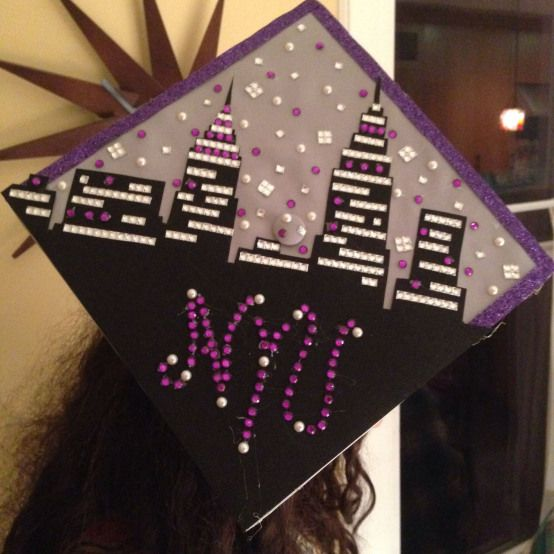 High school graduation cap New York university #collegegraduation #college #graduation #inspiration