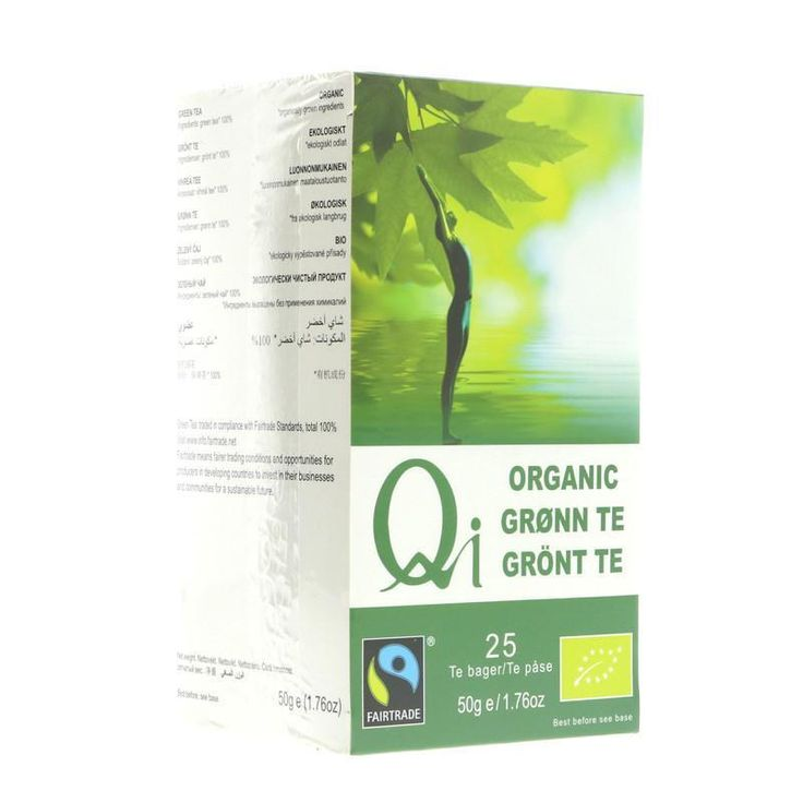 Qi Organic Green Tea - 25 Bags