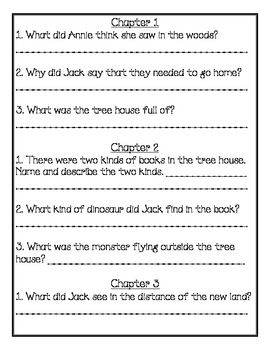 Magic Tree House #1 Comprehension Packet