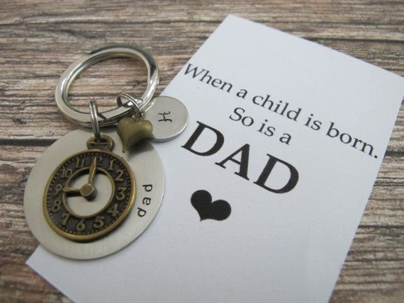 First time dad Personalized name keychain. New dad by creations138