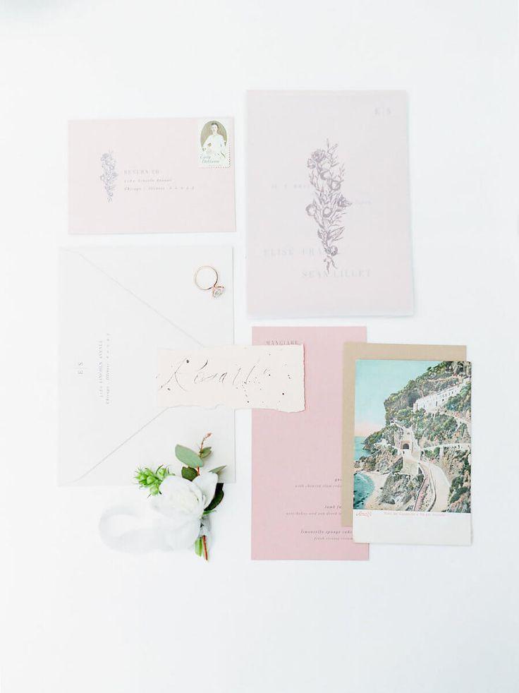 pink black and white bridal shower invitations%0A Tuscany inspired wedding invitations  Stella Yang Photography