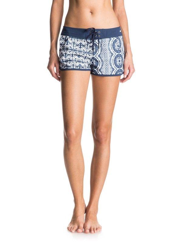 Vente Le Moins Cher Roxy Oceanside - Beach Shorts - Short de plage - Femme - S - Bleu Vente Pas Cher 100% Authentique Prix De Gros Prix Pas Cher fR2YMGr
