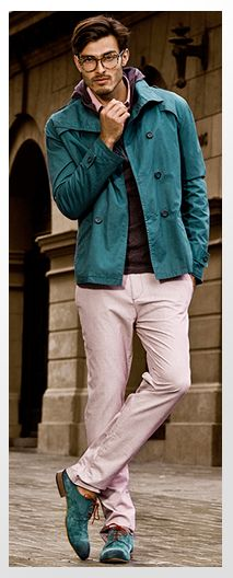 Basement, Fall 2013 | Pinks and Teals in Men's Fall Fashion
