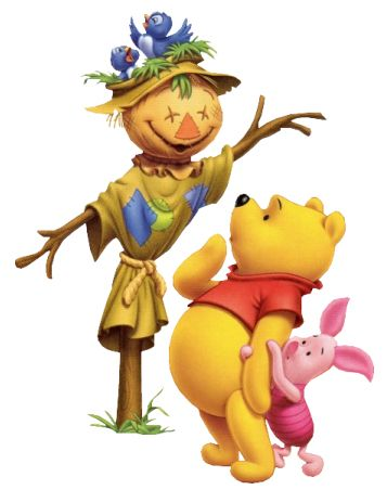 Pooh and Piglet meet the scarecrow