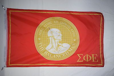Sigma Phi Epsilon Red SigEp or SPE College Fraternity Official Licensed Flag 3x5