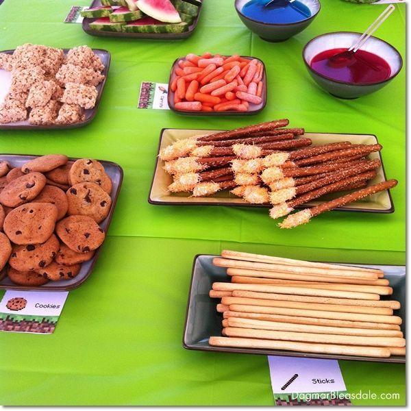 DIY Minecraft Birthday Party,  Dagmar's Home, DagmarBleasdale.com #DIY #Minecraft #party #entertaining #kidsparty #Minecraftparty