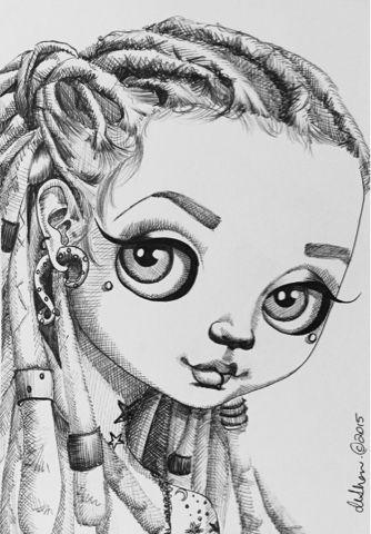 100 Drawings In 100 Days Rebellious Elsa Big Eyes Art