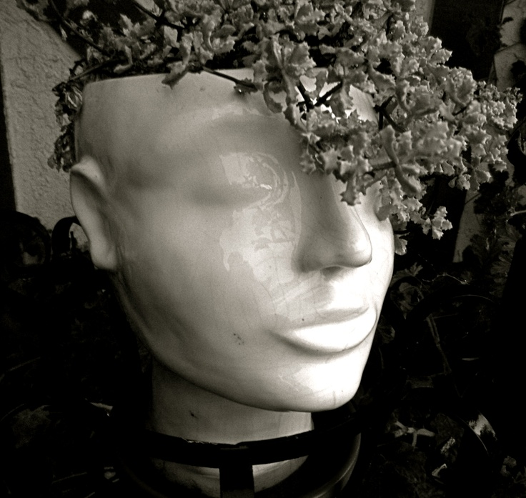 Pot Head Planters: 250 Best Images About Mannequins And Dolls In The Garden