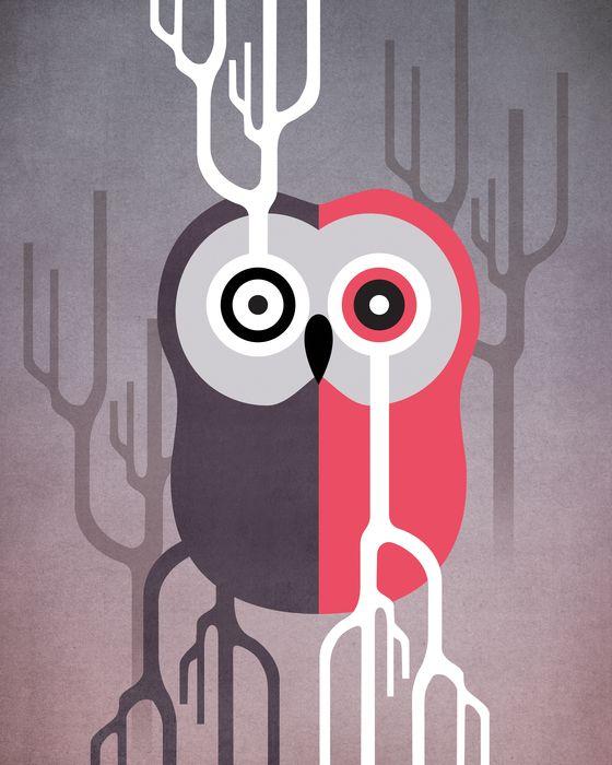 Owl 2 art print by sun yeo on artsider
