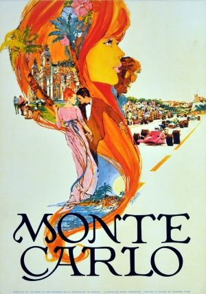 Monte Carlo Carpenter (small), 1970s - original vintage poster by Steve Carpenter listed on AntikBar.co.uk