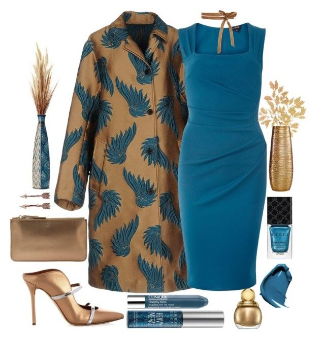 """""""Turn Heads!"""" by loves-elephants ❤ liked on Polyvore featuring Dries Van Noten, Dorothy Perkins, Malone Souliers, Liebeskind, Urban Decay, Clinique, NARS Cosmetics, Gucci, Elements and Simplydesignz"""