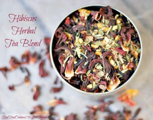 Hibiscus Herbal Tea Blend | Real Food Outlaws - 90210 Organics
