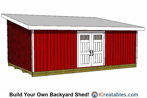 16x24 lean to shed to build onto a house and for 16x24 shed plans free