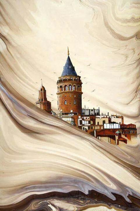 Ebru ve Minyatür, Galata Kulesi