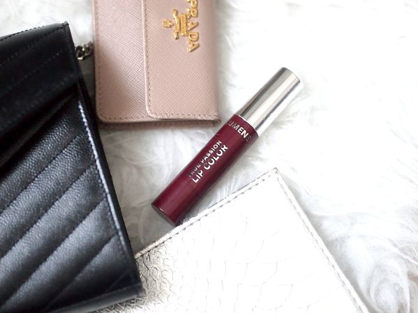 Blogger Girly Style can't resist Lumene True Passion Lip Color in this dramatic shade that is a beautiful combination of burgundy and plum. Great choice for the winter party season! #lipstick #lumene
